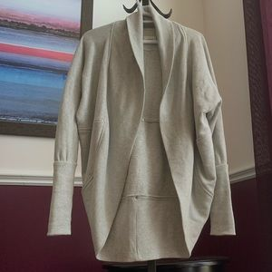 Wilfred small grey Diderot cardigan